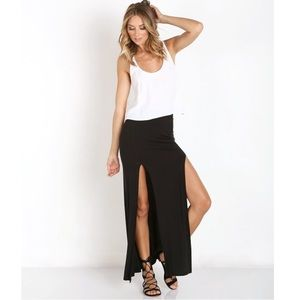 Joah Brown Phoenix Double Slit Maxi Skirt